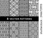 geometric vector pattern pack | Shutterstock .eps vector #246673993