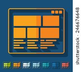 flat design  interface