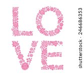 love happy valentines day card  ... | Shutterstock .eps vector #246686353