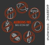 vector icons set for allergens...   Shutterstock .eps vector #246688549