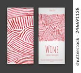set of wine labels. artistic... | Shutterstock .eps vector #246691138