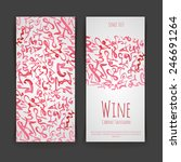 set of wine labels. artistic... | Shutterstock .eps vector #246691264