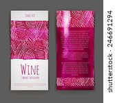 set of wine labels. artistic... | Shutterstock .eps vector #246691294