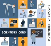 scientists character icon set... | Shutterstock .eps vector #246697249