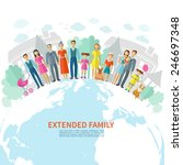 extended family poster with...   Shutterstock .eps vector #246697348