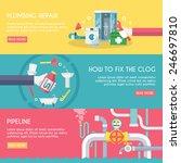 plumbing repair fix the clog... | Shutterstock .eps vector #246697810
