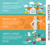 supreme court judge and... | Shutterstock .eps vector #246698236