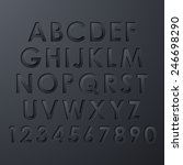 alphabet set | Shutterstock .eps vector #246698290