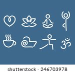 set of yoga and wellness themed ...   Shutterstock .eps vector #246703978