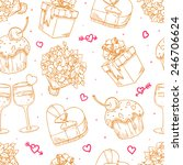 cute seamless background for... | Shutterstock .eps vector #246706624
