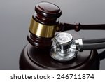 Close Up Of Brown Gavel And...