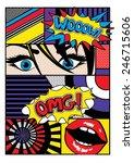 pop art card vector illustration | Shutterstock .eps vector #246715606