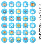 travel worldwide icons.... | Shutterstock .eps vector #246719410