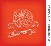 lunch menu  restaurant design. | Shutterstock .eps vector #246722629