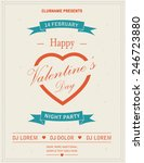 happy valentines day retro... | Shutterstock .eps vector #246723880