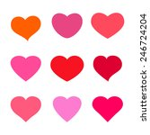 set of  heart shaped icons.... | Shutterstock .eps vector #246724204