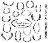 hand drawn design elements... | Shutterstock .eps vector #246724300