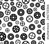 seamless pattern with gears. | Shutterstock .eps vector #246733366