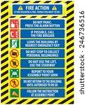 fire action emergency procedure ... | Shutterstock .eps vector #246736516