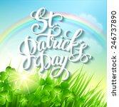 st. patrick's day poster.... | Shutterstock .eps vector #246737890