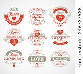 typography valentine's... | Shutterstock .eps vector #246737938