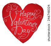 lettering happy valentine's day ... | Shutterstock .eps vector #246748324