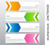 the abstract banner  vector work   Shutterstock .eps vector #246750430
