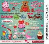 vintage valentine design... | Shutterstock .eps vector #246753874