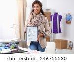 modern young fashion designer... | Shutterstock . vector #246755530