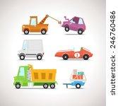 car flat icon set 4 | Shutterstock .eps vector #246760486