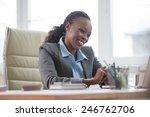 african business woman working...   Shutterstock . vector #246762706