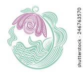 pattern flower illustration   Shutterstock . vector #246763570
