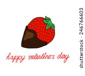 love card with strawberry   Shutterstock . vector #246766603