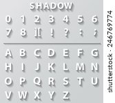 flat font with long shadow... | Shutterstock .eps vector #246769774