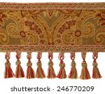 red and gold tassels with trim... | Shutterstock . vector #246770209