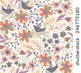 vector floral seamless pattern... | Shutterstock .eps vector #246775180