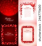 set of happy valentines day... | Shutterstock .eps vector #246775600