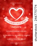happy valentines day party... | Shutterstock .eps vector #246775774