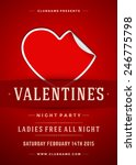 happy valentines day party... | Shutterstock .eps vector #246775798
