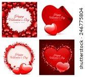 set of happy valentines day... | Shutterstock .eps vector #246775804