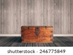 old wooden chest with closed lit | Shutterstock . vector #246775849