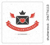 happy valentine's day vintage... | Shutterstock .eps vector #246776113