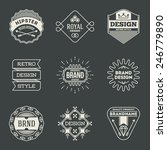 retro design insignias... | Shutterstock .eps vector #246779890