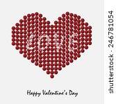 valentine's day heart | Shutterstock .eps vector #246781054