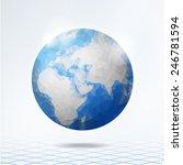 modern polygonal globe  planet...   Shutterstock .eps vector #246781594