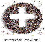 large group of people seen from ... | Shutterstock . vector #246782848
