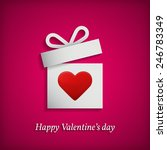 gift box with heart symbol.... | Shutterstock .eps vector #246783349