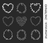 flowers frame. heart. vector...   Shutterstock .eps vector #246789643