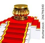award is on red carpet on white ... | Shutterstock . vector #246796540