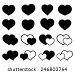collection of icons with hearts | Shutterstock .eps vector #246803764